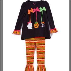 Orange Halloween Tunic & Leggings Set - Girls